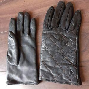 Ralph Lauren leather gloves vintage winter